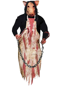 Hanging Butcher Pig. Halloween Decoration.