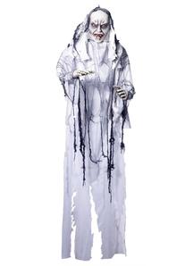 Hanging White Vampire 6 Ft.  Halloween Props.