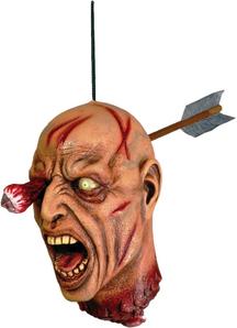 Head With Arrow. Halloween Heads.