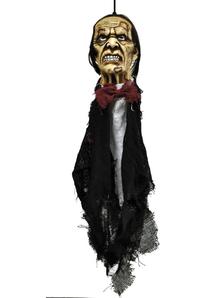 Head With Bow Tie. Halloween Heads.