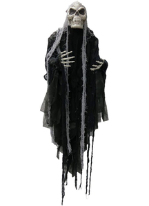 Long Haired Hanging Reaper 5 Ft. Halloween Props.