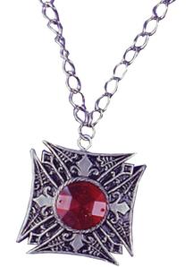 Medallion Vampire Red Gem