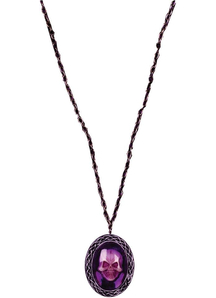 Necklace Gothic Skull Purple