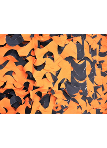 Orange And Black Crazy Camo 8X10 Ft. Webs And Cloth.
