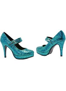 Shoe Alice Blue Glitter Size 7