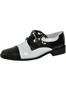 Shoe Oxford Bk And Wt Men Md
