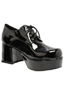 Shoe Platform Blk Pat Men Lg