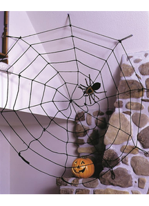 Spider Web 9 Ft Rope Black. Webs And Cloth.