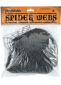 Stretchable Black Web. Webs And Cloth.