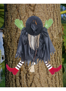 Tree Trunk Witch. Halloween Props.