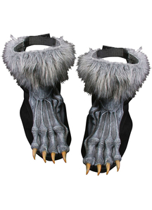 Werewolf Shoe Cover Adult Grey
