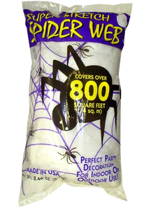 White Spider Web 8.4 Oz. Webs And Cloth.