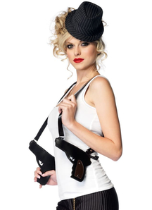 Gangster Dbl Gun Holster Purse