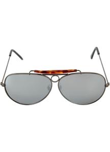 Glasses Aviator Gunmetal Mirro - 15304