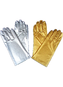 Gloves Reg Metallic Silver