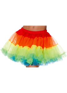 Petticoat Tutu Adult Rainbow