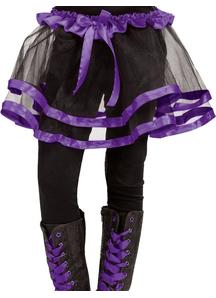 Ribbon Tutu Child Purple