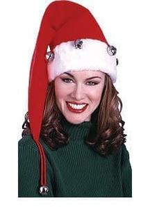 Santa Hat W Bells X Long
