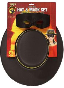 Zorro Adult Hat And Eye Mask