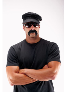 Biker Mustache Black
