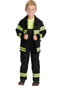 Black Firefighter Child Costume