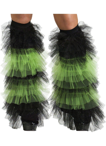 Boot Covers Tulle Ruffle Bk Gr