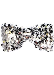 Bow Tie Sequin Silver