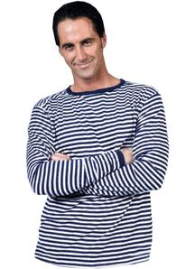 Clown Shirt Blue White Adult
