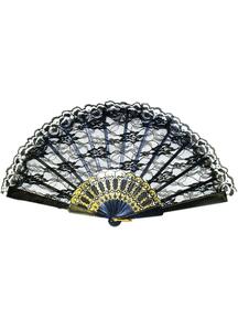 Fan Black Lace