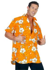 Hawaiian Shirt Orange Ad One S
