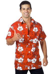 Hawaiian Shirt Red Ad One Size
