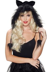 Kit Hood Kitty Black