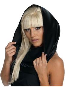 Lady Gaga Black Headscarf