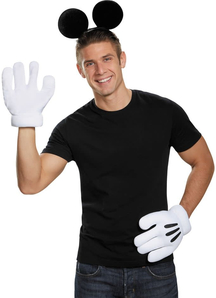 Mickey Mouse Ears Gloves Adult