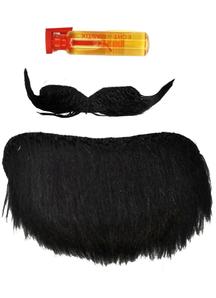 Mustache Goatee Black