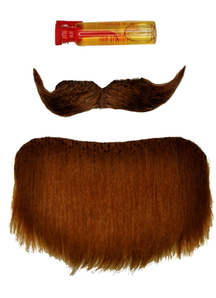 Mustache Goatee Brown