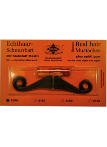 Mustache Real Hair Black