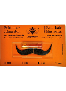 Mustache Real Hair French Black