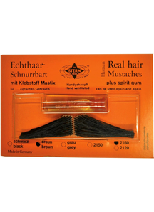 Mustache Real Hair Italian Black