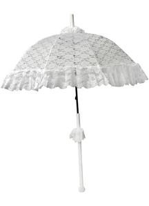 Parasol Dlx Lace Ruffle White