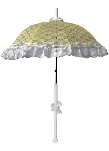 Parasol Dlx Lace Ruffle Yellow