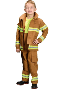 Tan Firefighter Child Costume