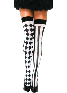 Thigh High Harlequin Stockings