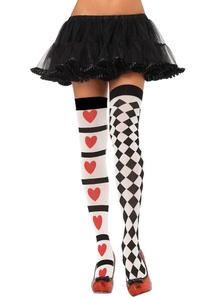 Tights Harlequin And Hearts