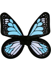 Wings Butterfly Satin Ad Blue/