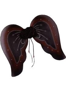 Wings Goth Bk/Burgundy Glitter