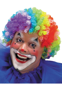 7 Color Clown Wig For Adults