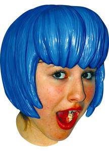 Anime 6 Latex Blue Wig
