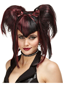 Bad Fairy Peruke Black Red