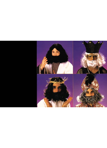 Black Beard And Wig For Biblical Costumes